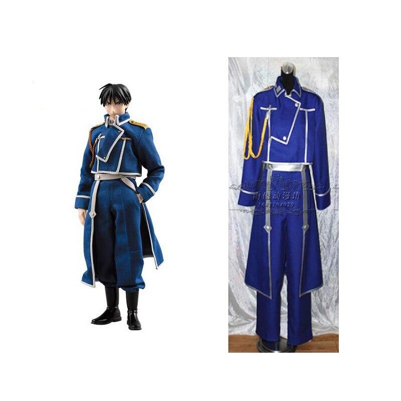 2016 Fullmetal alchemist Roy Mustang cosplay costume blue mens fullmetal alchemist cosplay