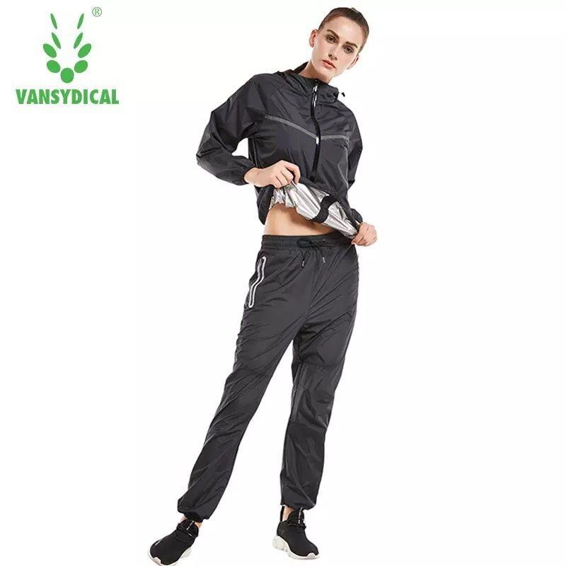 Hot Sweat Running Set Fitness Tracksuit for Women Hooded Zipper Jackets+Pants Workout Sports Jogging Suits Sportswear Plus Size
