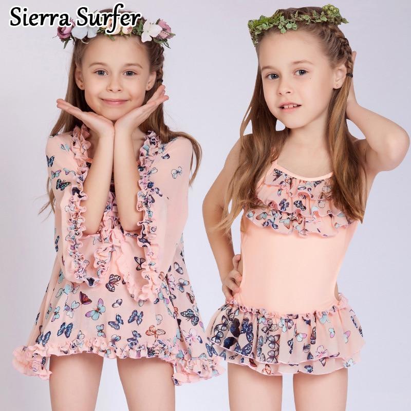 Kids Swimwear For Girls Swimming Suit Baby Clothes Bathing Suits 2018 Skirt Big Children Bikini Kinderen Zwemkleding Meisjes