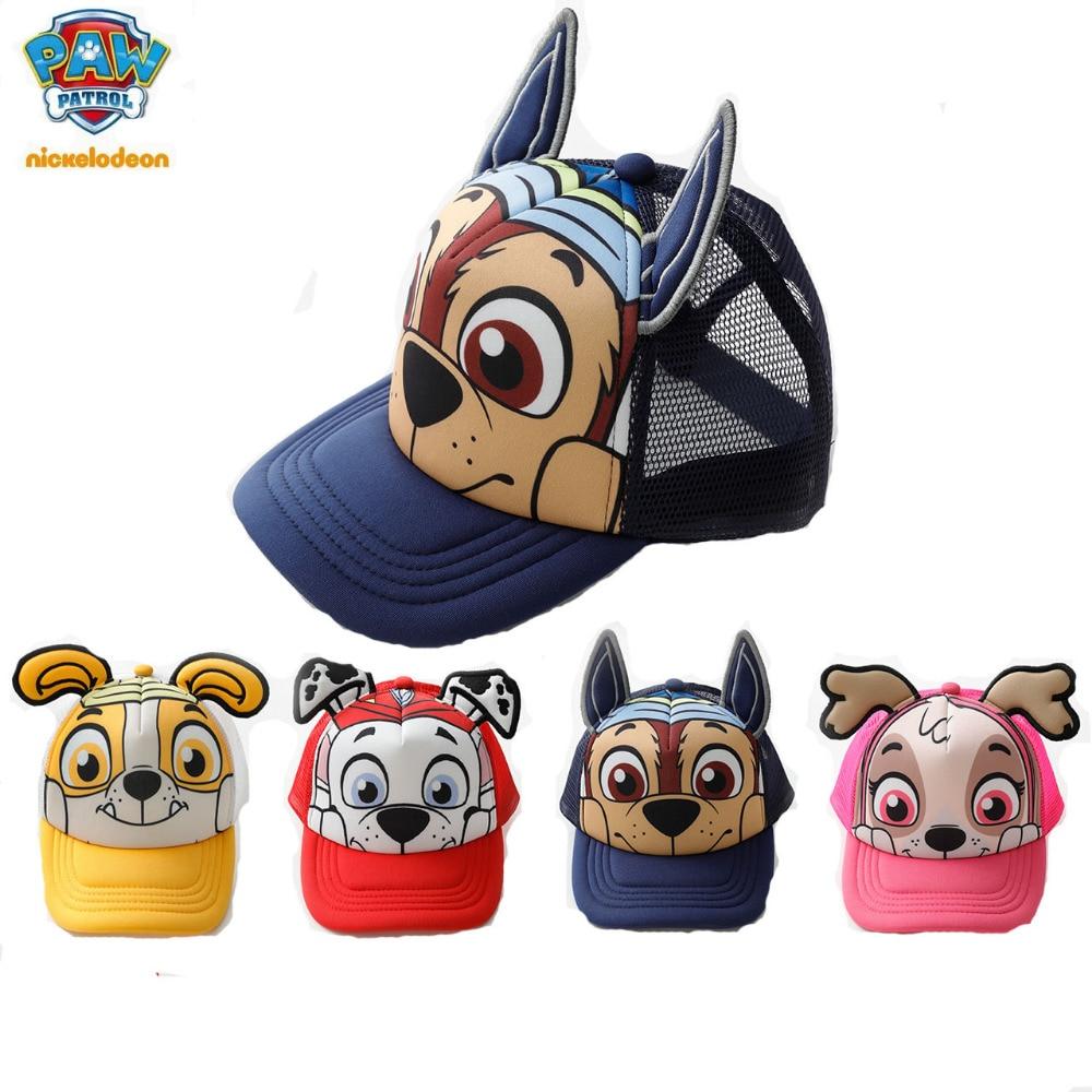 27822e38d105a 2018 Genuine PAW Patrol Cotton Cute Children s summer Hats Caps Headgear  Chapeau Puppy Print Party Kids