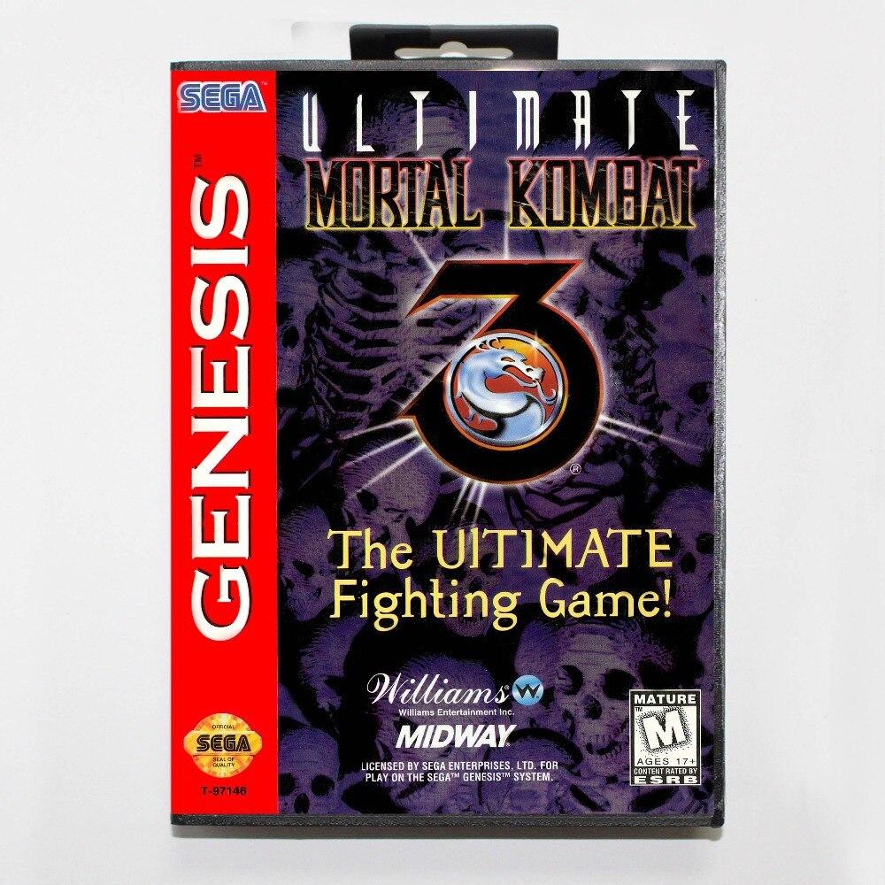 Ultimate Mortal Kombat 3 16 bit MD Game Card With Retail Box For Sega Mega Drive/ GenesisUltimate Mortal Kombat 3 16 bit MD Game Card With Retail Box For Sega Mega Drive/ Genesis