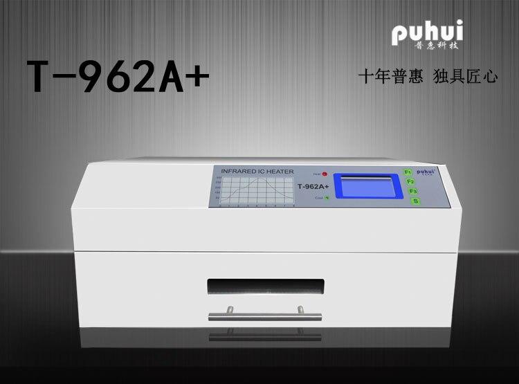 PUHUI T-962A + Reflow Forno A Infrarossi IC Riscaldatore T962A + Reflow Oven BGA Rilavorazione SMD SMT Sation Nuovo Prodotto