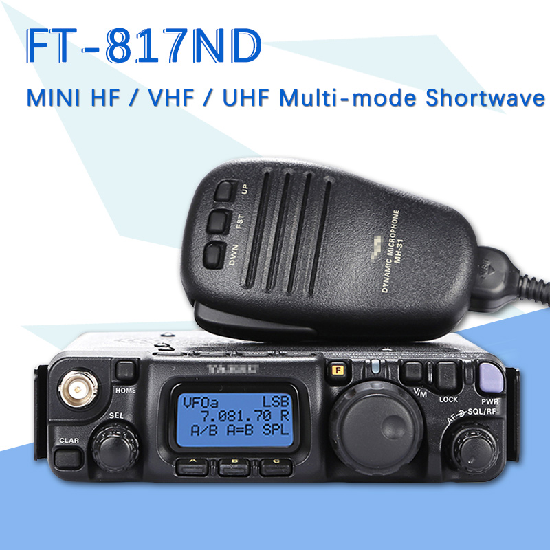 Suitable For YAESU FT-817ND Ultra-Small HF / VHF / UHF Multi-Mode Portable Shortwave Car Radio Transmitter