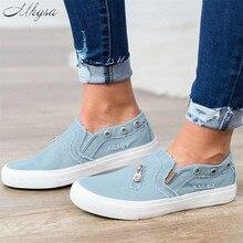 461aa5ce7d Mhysa 2019 Women Denim Shoes flats Fashion Casual Jeans Shoes Soft  comfortable Flats Spring Canvas Shoes