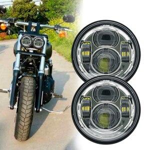 Image 3 - For  Davidson Dyna Fat Bob Black 4.65 inch Motor Style Head Lights for FXDF Dyna Fatbob Led Motor Projector