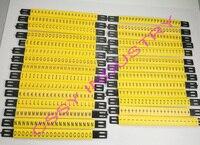 28 шт./лот бесплатная доставка MS-135mm кабель маркер линии и 4мм2 Плоские кабельные маркеры ABCDFEFGHIJKLMNOPQRSTUVWXYZ +-разные Буквы