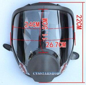 Image 2 - 3 en 1 peinture de sécurité pulvérisation respirateur masque à gaz même pour 3M 6800 masque à gaz masque facial complet respirateur