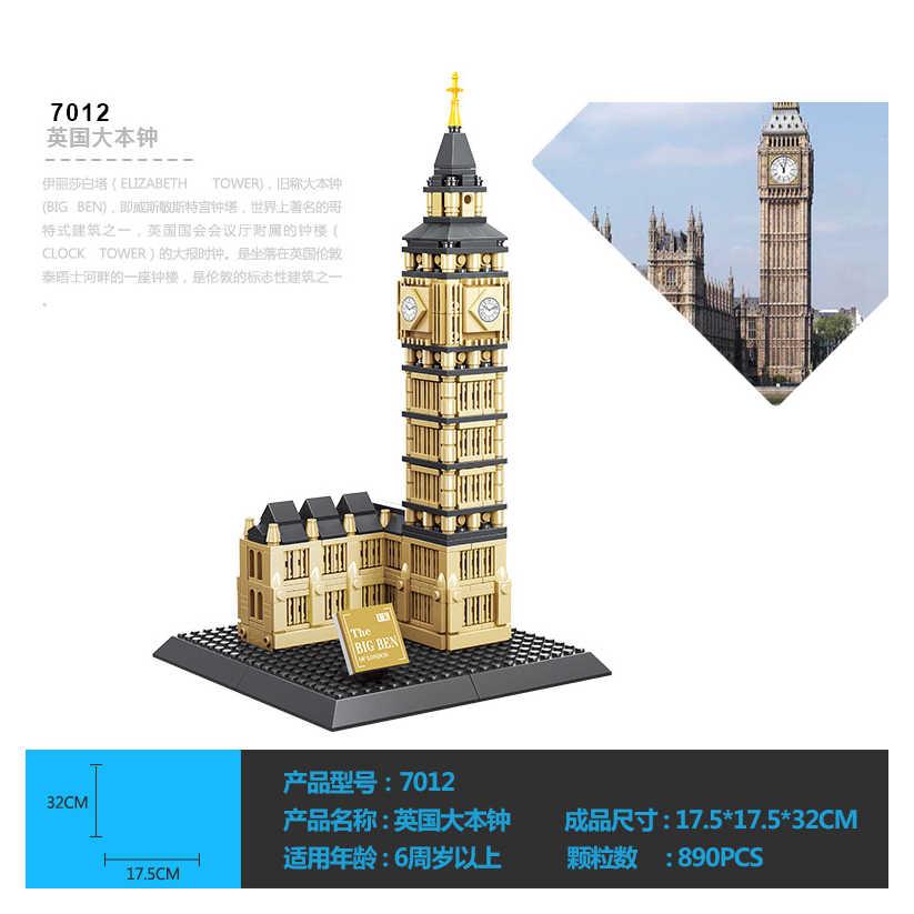Architecture 3D DIY Big Ben Building Blocks Sets City Bricks Classic Skyline