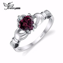 JewelryPalace Alexandrite Sapphire Irish Claddagh Ring Strong 925 Sterling Silver Friendship Love Coronary heart Jewellery June Birthstone