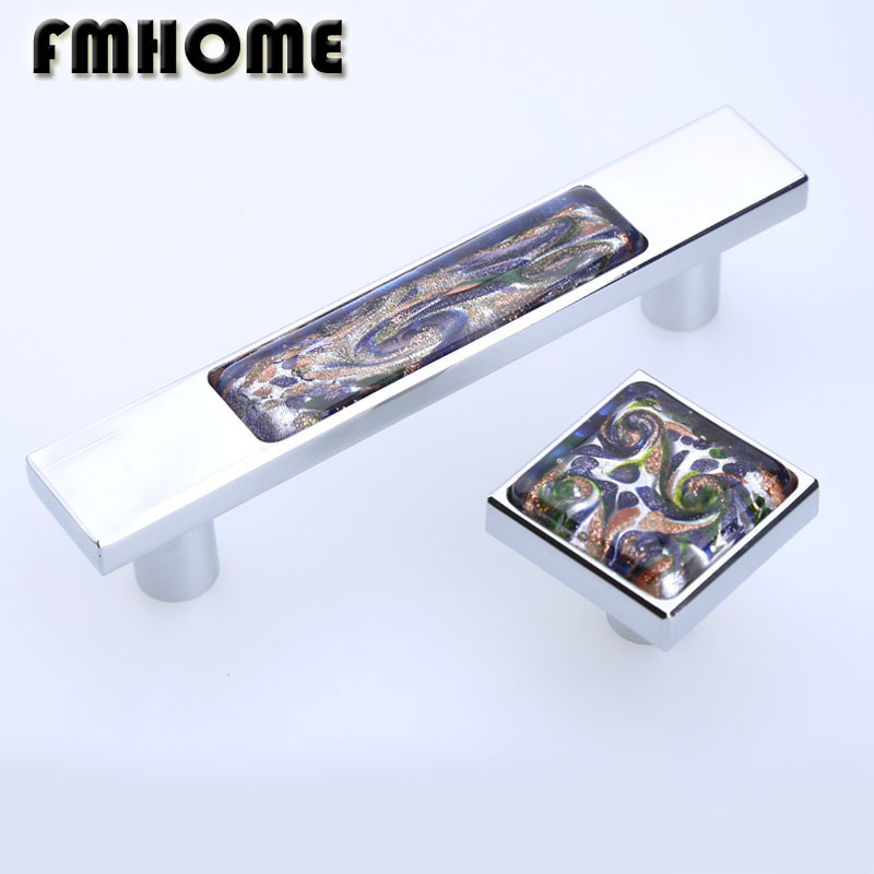 96mm Modern fashion glass wine cabinet wardrobe kitchen cabinet door handles silver chrome drawer tv table knobs pulls 3.75 24 x 30mm clear crystal glass drawer cabinet wardrobe knobs kitchen door handles