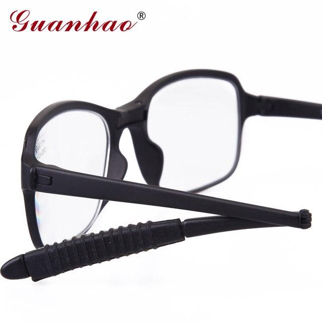 نظارة قراءة من GuanHao خفيفة قابلة للطي للرجال والنساء بإطار TR90 نظارة قراءة بإطار من الراتينج مزودة بعدسات خفيفة وقصيرة النظر مقاس 1.0 1.5