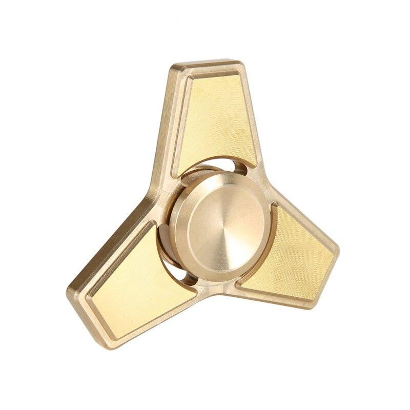 Tri Hand Spinner Toys for ADHD EDC Fidget Finger Spinner Metal Golden Spinner Children Educational Toys