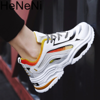 men's vulcanize shoes Spring Summer Sneakers Air Breathable Fashion Male Shoe designer Colored Lace Up Soft footware hip hop