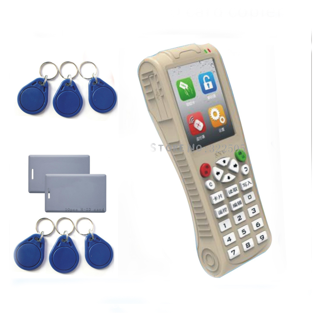 Super 125KHZ 13 56MHZ more frequency RFID ID EM Card Reader Writer Copier Duplication for Access