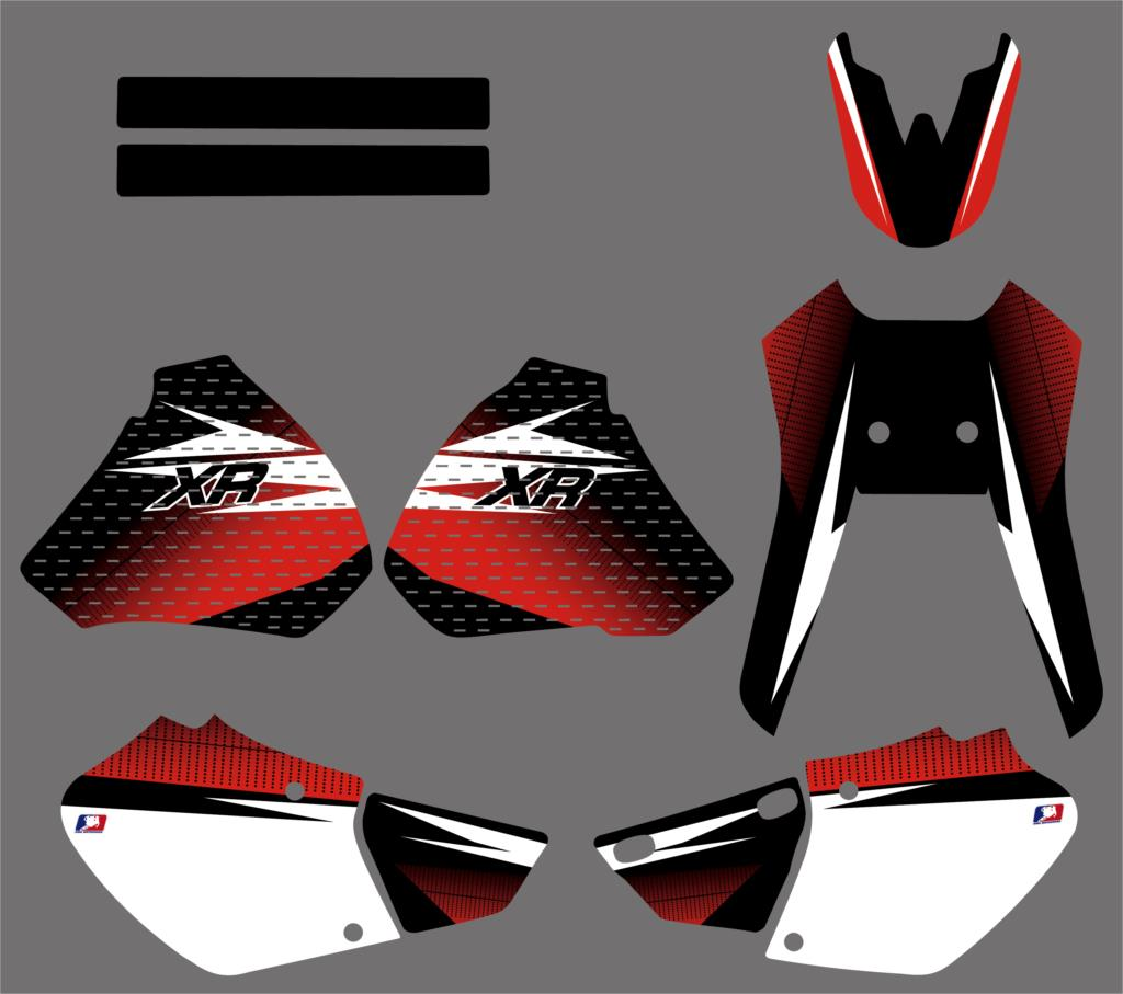 Team Graphic Background Decals Stickers Kit For Honda XR250 XR400 XR 250 400 1996 1997 1998