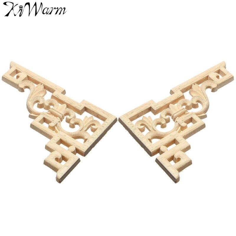 kiwarm pc x cm esculpido canto applique escultura em madeira moldura de madeira esculturas decorativas