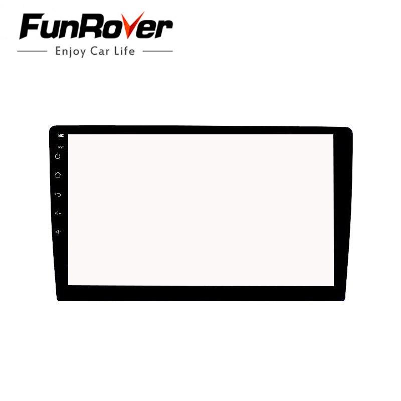 Funrover carro vidro temperado película protetora adesivo para 9 polegada rádio estéreo dvd gps toque tela lcd completa frete grátis