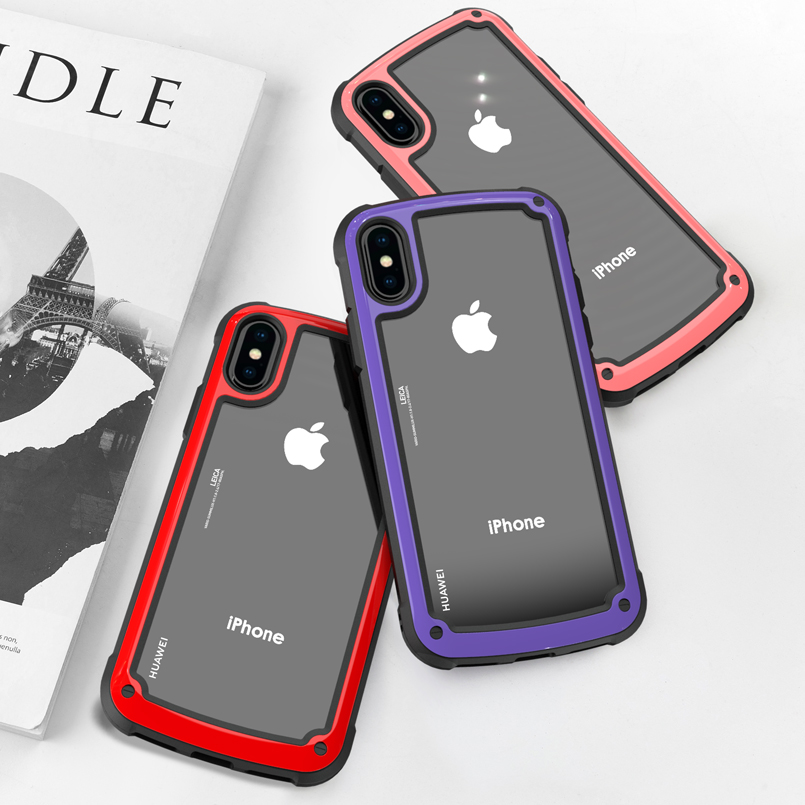 360 Degrees Full Shockproof Case For iPhone 6 6S 7 8 Plus Luxury Hard PC+TPU Cover X XR XS Max Coque Capas