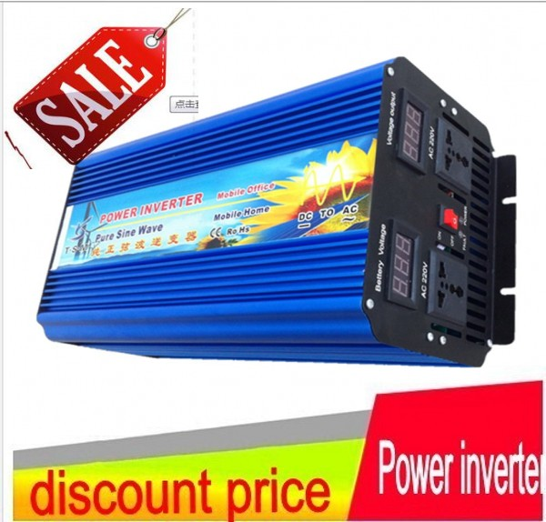 цена на spannungswandler 12 volt 220 volt 4000W/4KW 48V to 220V ac Pure Sine Wave Power Inverter (8kw/8000w peak power) Free shipping
