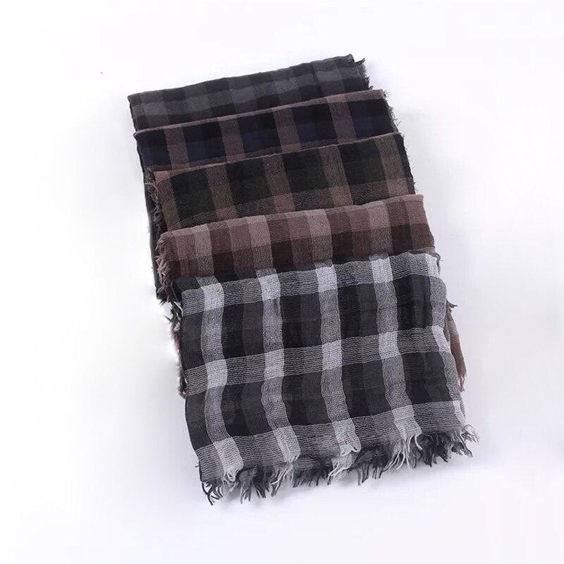 Women Vintage   Scarves   Pleated Plaid   Scarf   Shawl Autumn Winter Tassel   Scarf     Wraps
