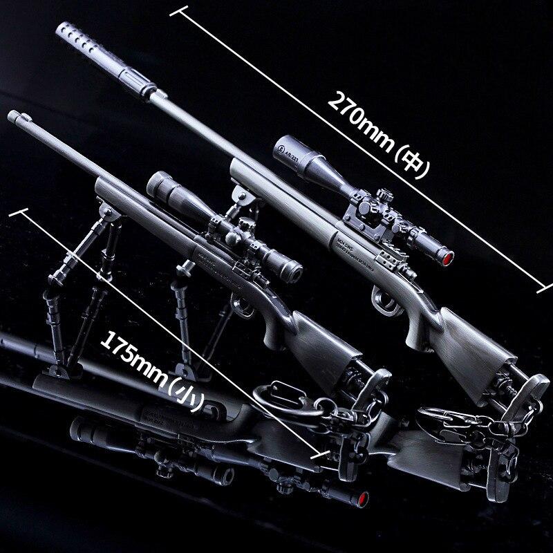 Mini pistola Rifle juguetes M24 Rifle de francotirador de aleación de arma modelo armas Decoración Juguetes regalos de cumpleaños para niños