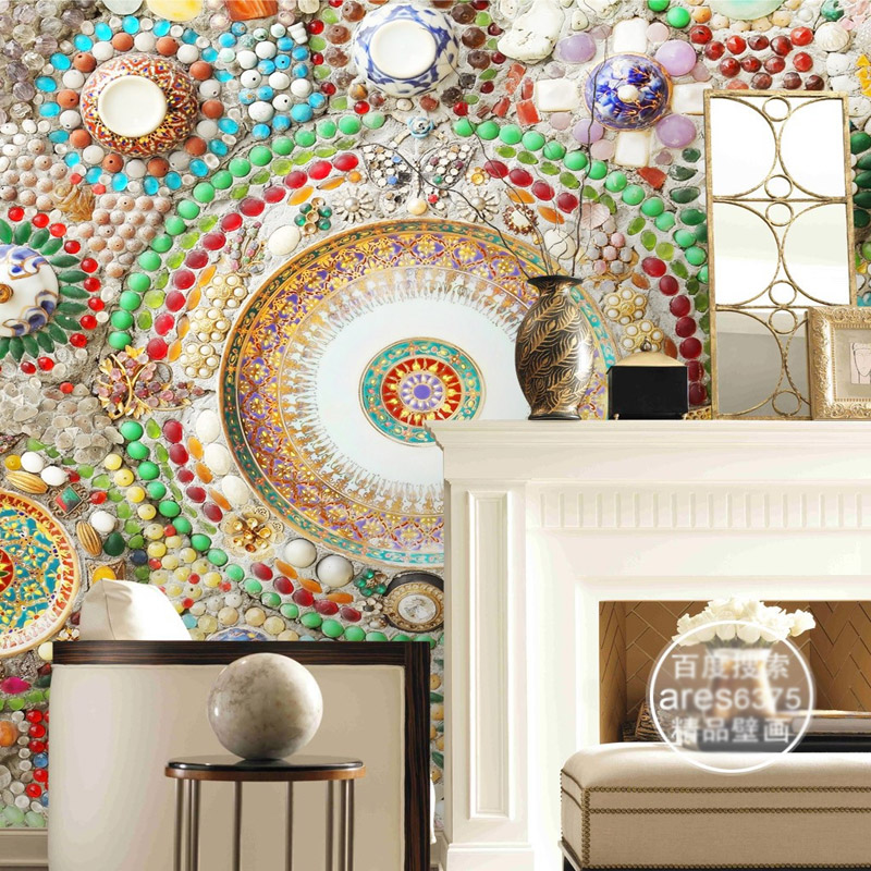 wall bohemian decor bedroom mural ceiling jade mosaic 3d hotel modern decoration covering wallpapers clothing dhgate