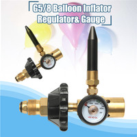 Brass Helium Latex Balloon Inflator Regulator With Pressure Gauge For G5/8 Tank Valves 145*135mm Pressure Reducer