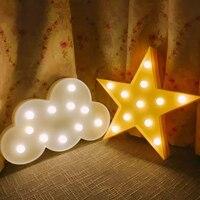 北欧3d ledスター/ムーン/クリスマスツリー/クラウド常夜灯用キッズルーム装飾フォトの小道具子供ライトクリスマスギフト