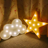 Nordic 3D LED Star Moon Christmas Tree Cloud Nightlight For Kids Room Decoration Photo Props Children