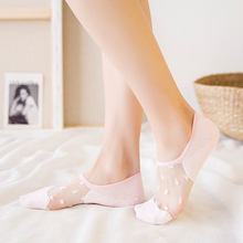 1Pair New Elegant Women Girls Cotton Comfortable Solid Dot Spring Summer Wear Low Ankle Invisible Elastic Short Socks(China)