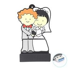 Waysta свадебный подарок usb флэш-накопитель 8 ГБ 16 ГБ 32 ГБ флешки пары невесты USB 3,0 карта памяти(Пользовательский логотип