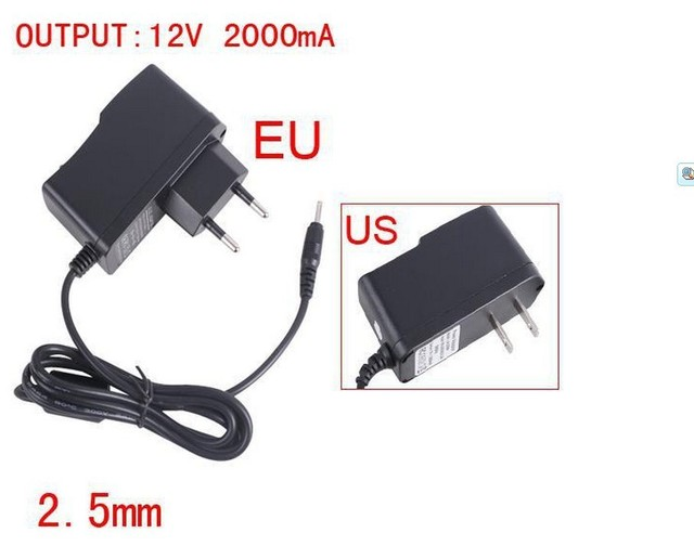 12v 2a tablet charger adapter 2.5mm for android universal tablet charger free shipping