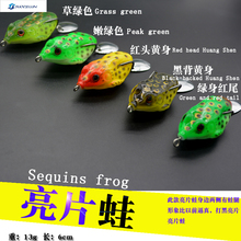 5pcs/box group 14g 6cm thunder big game Sequin frog hunting black fish specializing in noise equipment accessories fishing tackl