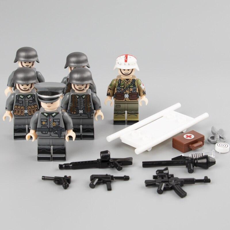 WW2 Military Army Soldier Figures Building Blocks German Medic Parts Bricks Toy