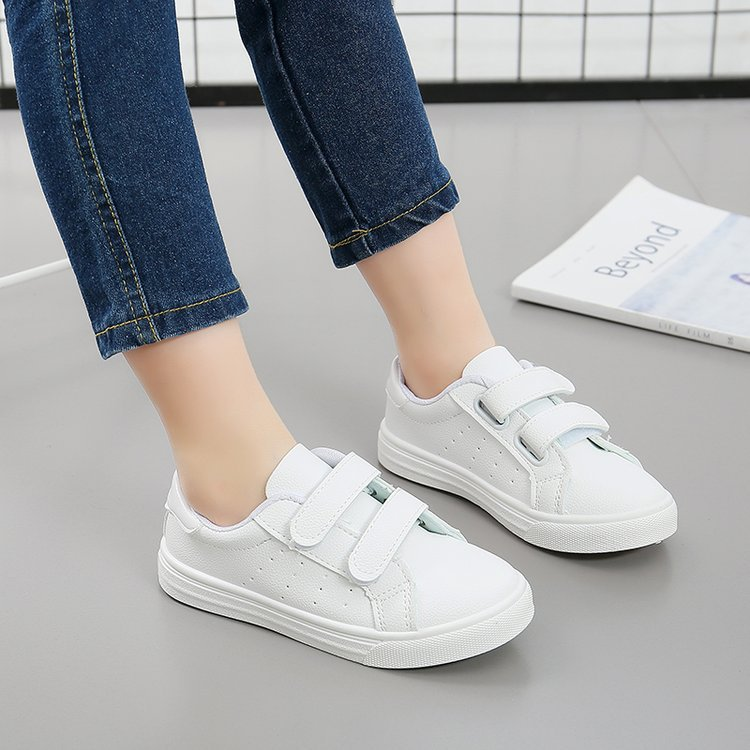 AFDSWG spring and autumn artificial leather white school shoes kids shoes running kids boys sneakers sapato infantil feminino
