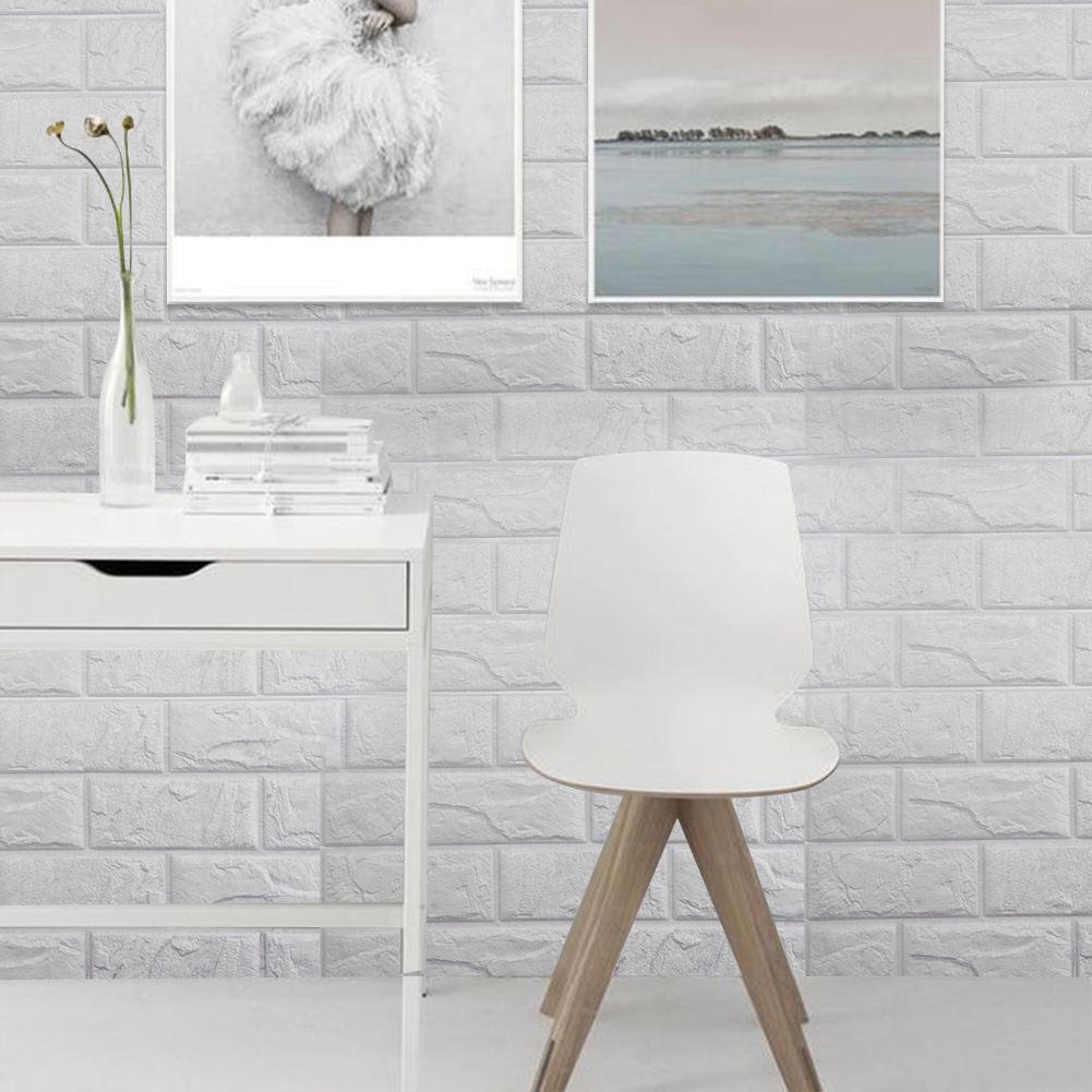 étanche pe mousse 3d stickers muraux safty décor à la maison papier peint diy de décoration