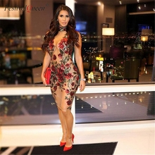 sexy rose embroidery bodycon mini dress stylish sequins flower design mesh hollow out dresses for women