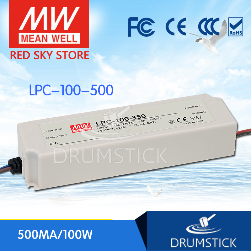 цена на Hot sale MEAN WELL LPC-100-500 200V 500mA meanwell LPC-100 200V 100W Single Output LED Switching Power Supply