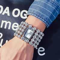 2019 ใหม่แฟชั่นสุภาพสตรีทองเหล็กคริสตัล Diamond Rhinestone นาฬิกาข้อมือสตรีความงามนาฬิกาข้อมือควอตซ์ Reloj Mujer