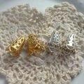 (Pedidos superiores a $10) 10*17 MM 300 Unids/pack Gold & Silver Metal Bead Caps Resultados de La Joyería accesorios