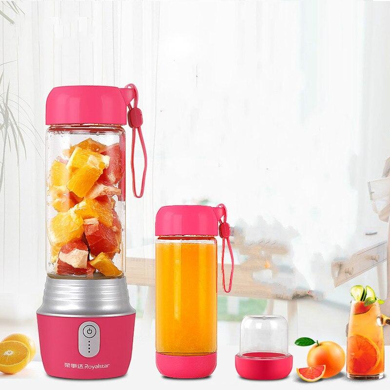 купить Electric Portable Multi Handheld Juicer Machine 130W with 2 Cups 4000mAh Power Bank Home Mini Blenders Mixer Sports Bottle онлайн
