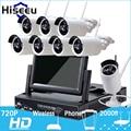 7 Inch Displayer 8CH 720P Wireless CCTV System Wireless NVR IP Camera IR-CUT Bullet Home Security System CCTV Kit Hiseeu