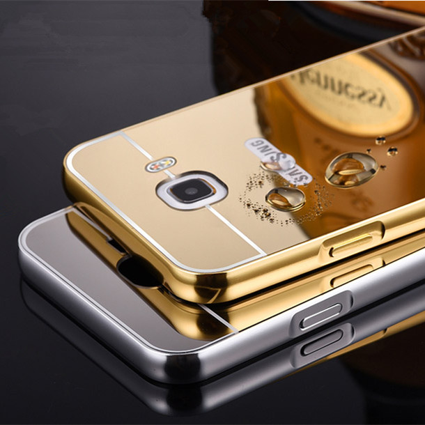Luxury Plating Aluminum Metal Mirror Back Cover Case for Samsung Galaxy A3 A5 A7 A9 J1 J2 J3 J5 J7 2016 Prime On5 On7 G530 G7106