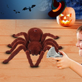 Realistic Scary Creepy Remote Control Infrared RC Plush Spider Halloween Toy Store 34