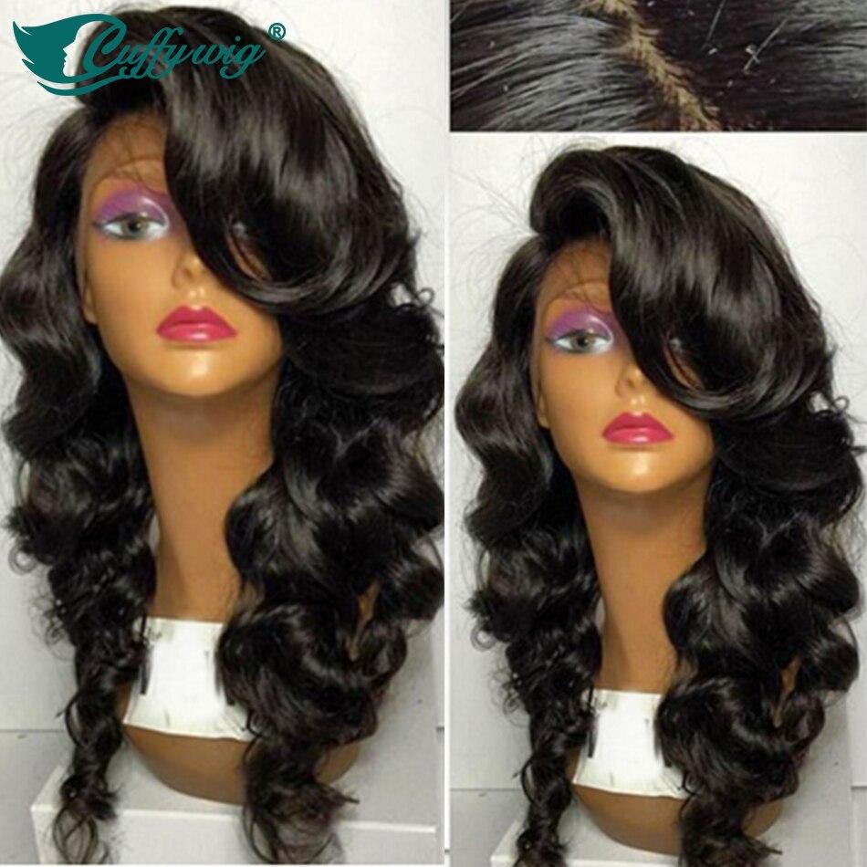 High Quality 4X4 Wavy Silk Top Wigs Unprocessed Brazilian Virgin Human Hair Silk Top Glueless Full