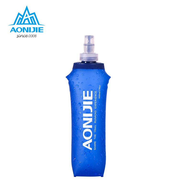 AONIJIE 250/500ML Outdoor Camping Hiking Nice Soft Flask Sports Cycling Running Water Hydration Bottle aonijie foldable soft water bag outdoor sports kettle water storage bottle running hiking travel flask bottle 250ml 500ml