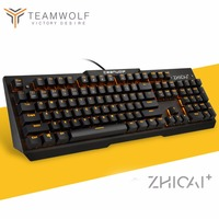 Waterproof Mechanical Keyboard 104 Anti ghosting Optical Switch LED Backlit wired Gaming Keyboard Russian stickers for pro gamer