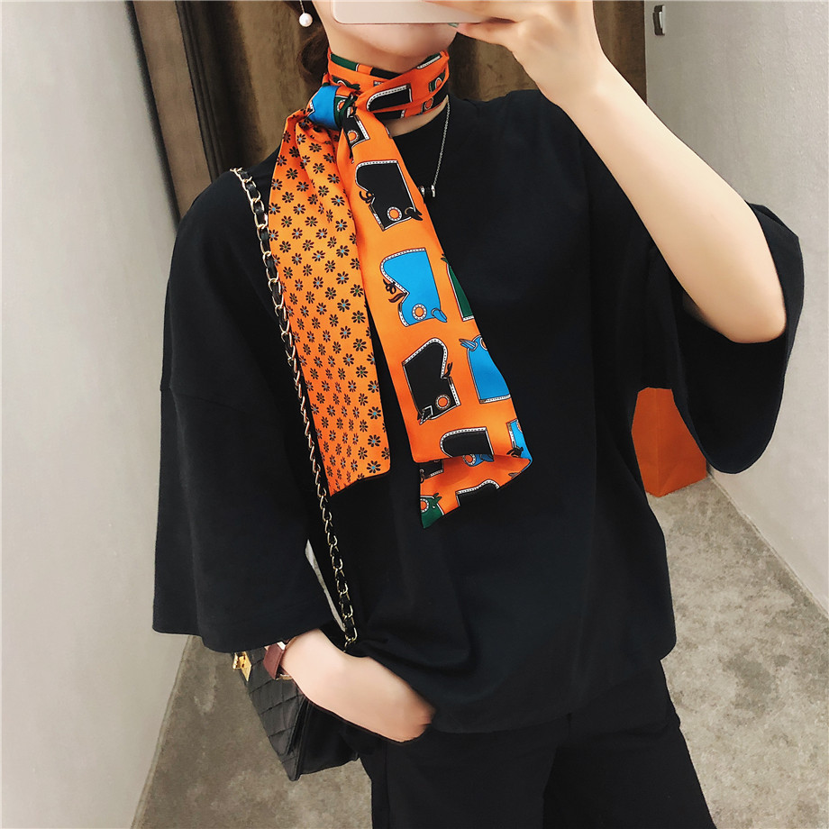 New Design Luxury Brand Horse Headstall Double-deck Twill   Scarf   For Ladies Head Silk   Scarves     Wraps   Women   Scarf   Handkerchief