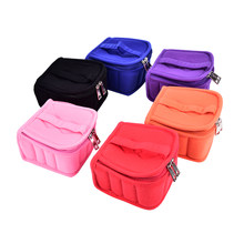 Hot 16 Bottles Essential Oil Carrying Case Nail Polish Makeup Cosmetic Bag Storage Traveling Sy Double