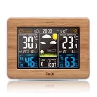 Weather Station Color Digital Clock Temperature Humidity Sensor Barometer Forecast Desk Table LED Alarm Clock